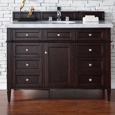 Brittany 48 Single Burnished Mahogany Bathroom Vanity Set Top Thickness: 4cm