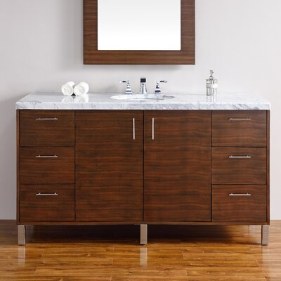 Metropolitan 60 Single Bathroom Vanity Base Base Finish: American Walnut
