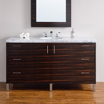 Metropolitan 60 Single Bathroom Vanity Base Base Finish: Macassar Ebony