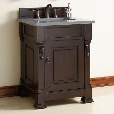 Brookfield 26 Single Burnished Mahogany Bathroom Vanity Set
