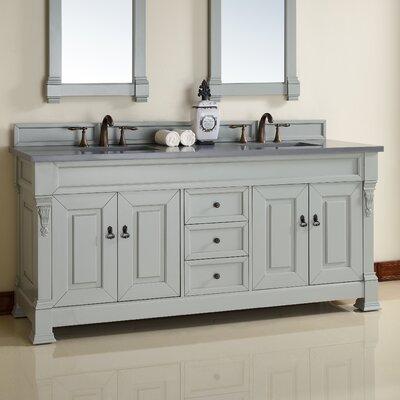 Brookfield 72 Double Urban Gray Bathroom Vanity Set