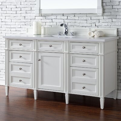 Brittany 60 Single Cottage White Bathroom Vanity Set