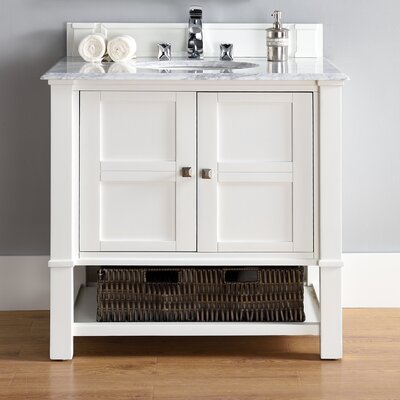 Westminster 36 Single Ceramic Sink Cottage White Bathroom Vanity Set
