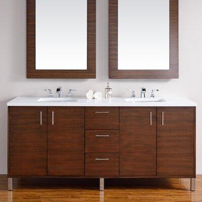 Metropolitan 72 Double Bathroom Vanity Base Base Finish: American Walnut