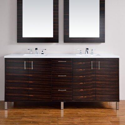 Metropolitan 72 Double Bathroom Vanity Base Base Finish: Macassar Ebony