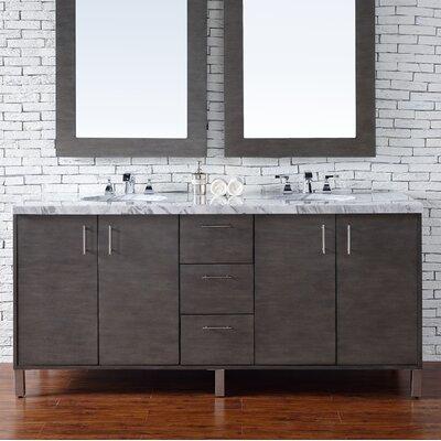 Metropolitan 72 Double Bathroom Vanity Base Base Finish: Silver Oak