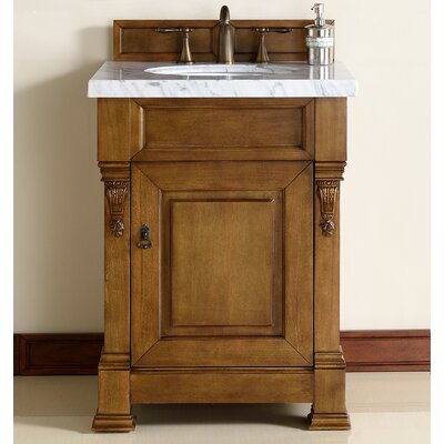 "Brookfield 26"" Single Country Oak Bathroom Vanity Set 147-114-V26-COK-2CAR"