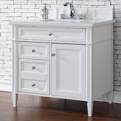 Deleon 36 Single Cottage White Bathroom Vanity Set