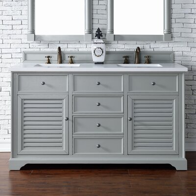 Savannah 60 Double Urban Gray Bathroom Vanity Set