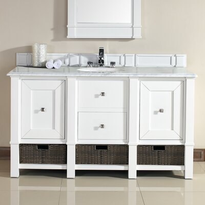 Westminster 60 Single Cottage White Bathroom Vanity Set