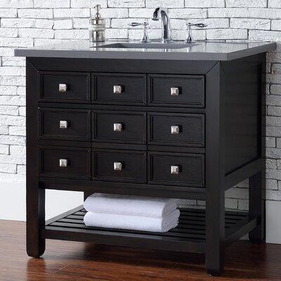 Kramer Traditional 36 Single Cerused Espresso Oak Bathroom Vanity Set