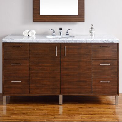 Cordie Modern 60 Single American Walnut Bathroom Vanity Set