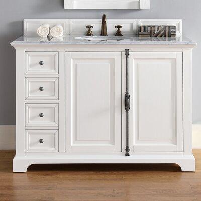 Providence 48 Single Bathroom Vanity Base Base Finish: Cottage White