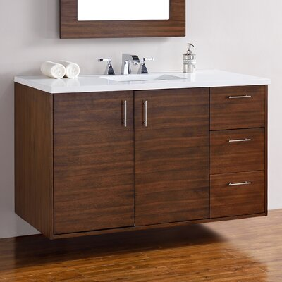 Cordie 48 Single American Walnut Birch Base Bathroom Vanity Set