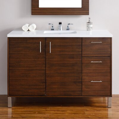 Cordie Modern 48 Single American Walnut Bathroom Vanity Set