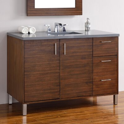 Metropolitan 48 Single American Walnut Bathroom Vanity Set