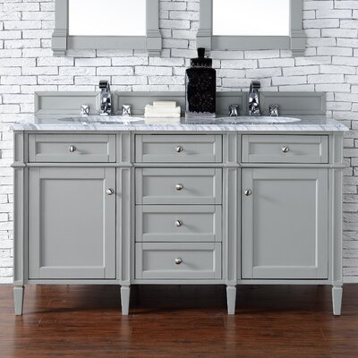 Brittany 60 Double Bathroom Vanity Base Base Finish: Urban Gray