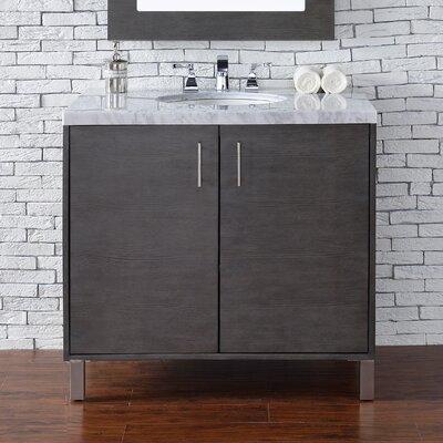 Cordie Modern 36 Single Silver Oak Bathroom Vanity Set