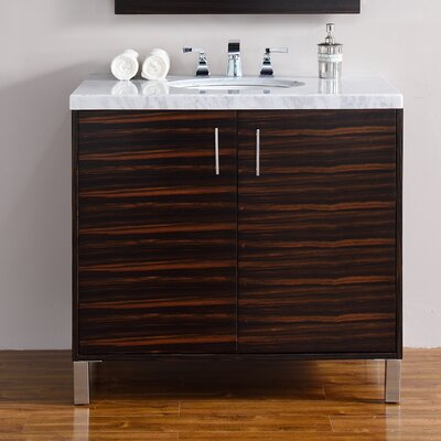 Metropolitan 36 Single Macassar Ebony Bathroom Vanity Set