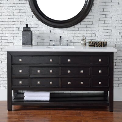 Kramer 60 Single Cerused Espresso Oak Bathroom Vanity Set