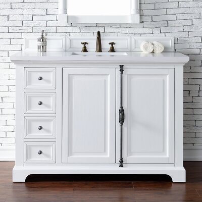 Belhaven 48 Single Cottage White Bathroom Vanity Set
