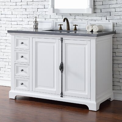 Providence 48 Single Cottage White Bathroom Vanity Set