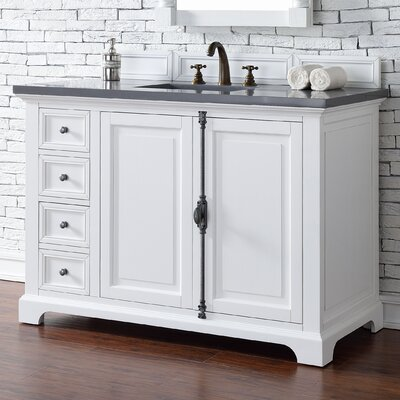 Belhaven 48 Single Undermount Sink Cottage White Bathroom Vanity Set Top Thickness: 4cm