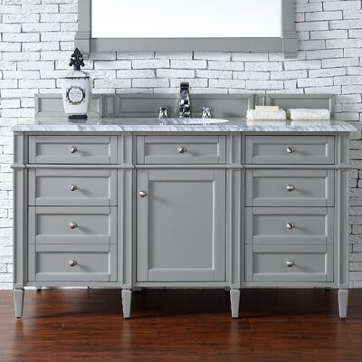 Brittany 60 Single Bathroom Vanity Base Base Finish: Urban Gray
