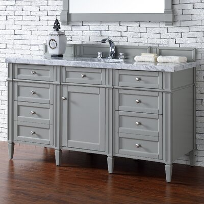 Deleon 60 Single Urban Gray Bathroom Vanity Set