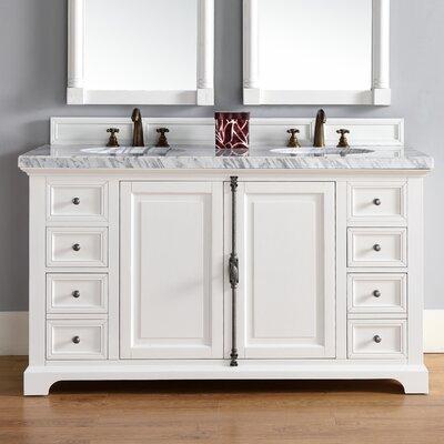 Providence 60 Double Bathroom Vanity Base Base Finish: Cottage White