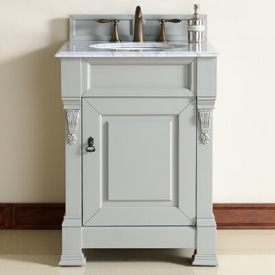 Brookfield 26 Single Urban Gray Bathroom Vanity Set Top Thickness: 4cm