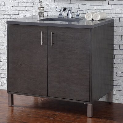 Cordie 36 Single Silver Oak Wood Base Bathroom Vanity Set
