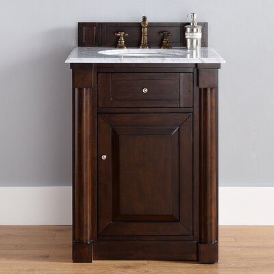 New Haven 26 Single Burnished Mahogany Bathroom Vanity Set