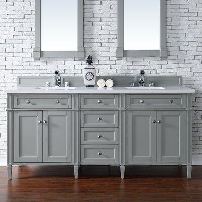 Deleon 72 Double Urban Gray Bathroom Vanity Set