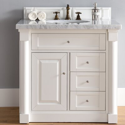 New Haven 36 Single Bathroom Vanity Base Base Finish: Cottage White