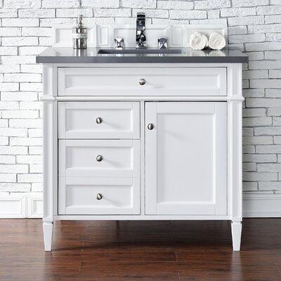 Brittany 36 Single Bathroom Vanity Base Base Finish: Cottage White