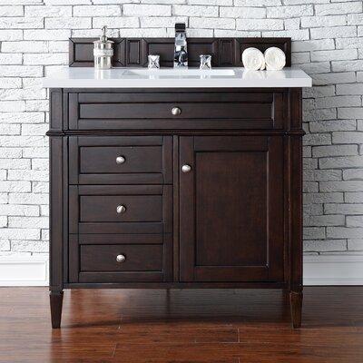 Brittany 36 Single Bathroom Vanity Base Base Finish: Burnished Mahogany
