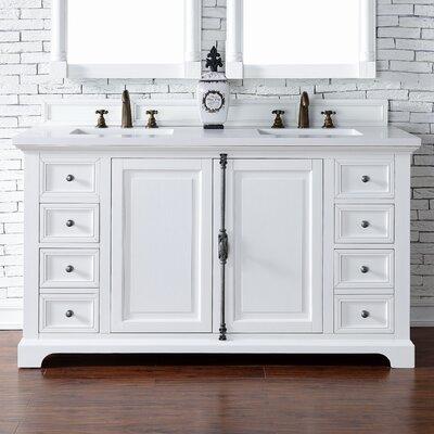 Belhaven 60 Double Cottage White Bathroom Vanity Set