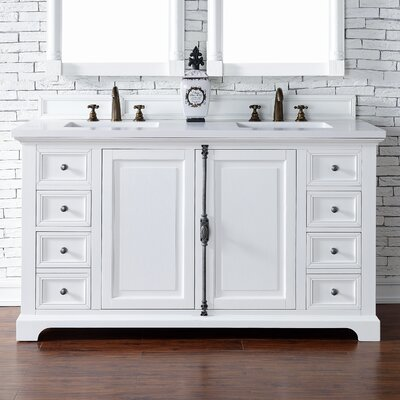 Providence 60 Double Cottage White Bathroom Vanity Set