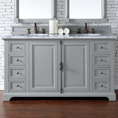 Providence 60 Double Urban Gray Bathroom Vanity Set