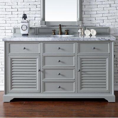 Savannah 60 Single Urban Gray Bathroom Vanity Set