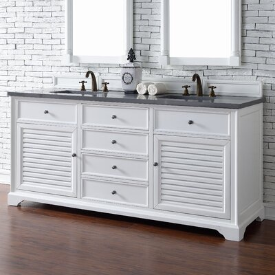 Savannah 72 Double Bathroom Vanity Base Base Finish: Cottage White