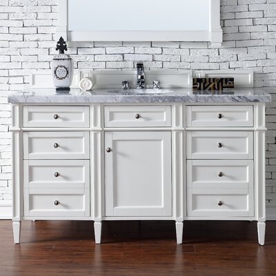 Brittany 60 Single Bathroom Vanity Base Base Finish: Cottage White