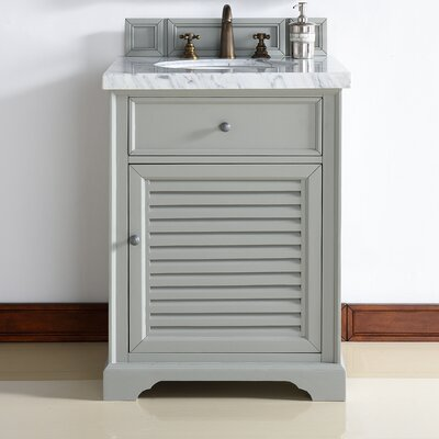 Belfield 26 Single Ceramic Sink Urban Gray Bathroom Vanity Set Top Thickness: 4cm