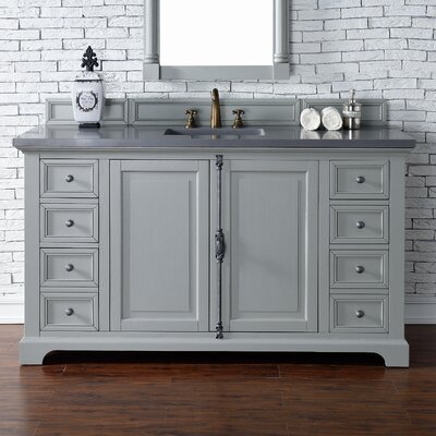 Providence 60 Single Urban Gray Bathroom Vanity Set Top Thickness: 4cm
