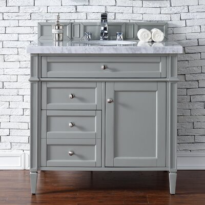 Brittany 36 Single Urban Gray Bathroom Vanity Set Top Thickness: 4cm