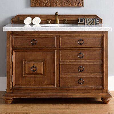 Frye 48 Single Cinnamon Bathroom Vanity Set with Drawers