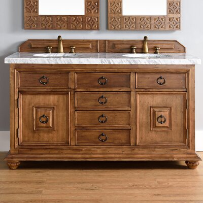 Mykonos 60 Double Cinnamon Bathroom Vanity Set