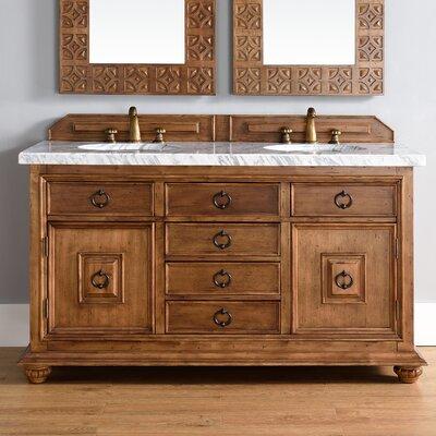 Frye Traditional 60 Double Cinnamon Bathroom Vanity Set