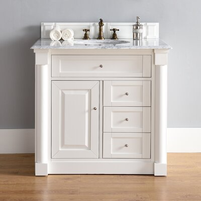 New Haven 36 Single Cottage White Bathroom Vanity Set